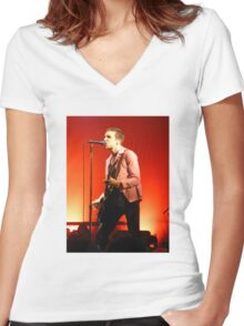 Miles Kane The Last Shadow Puppers Women's Fitted V-Neck T-Shirt