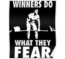 Winners Do What They Fear (Deadlift) Poster