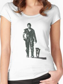 MAD MAX - The Road Warrior Custom Poster Women's Fitted Scoop T-Shirt