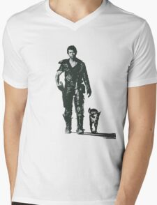 MAD MAX - The Road Warrior Custom Poster Mens V-Neck T-Shirt