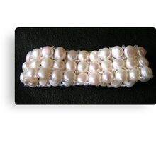 Genuine pearls for girls Canvas Print