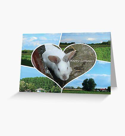 Rabbit's Happy Summer Greeting Card