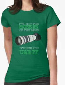 the size of the lens 3 Womens Fitted T-Shirt