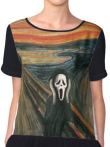 (The) Scream Parody Chiffon Top
