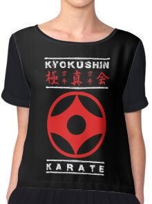 Kyokushin Karate (white text) Chiffon Top