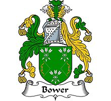 Bower Coat of Arms / Bower Family Crest Photographic Print