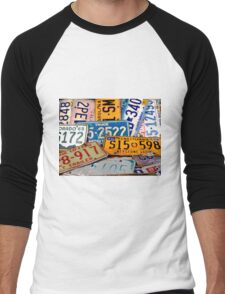 License Plate Poster Men's Baseball ¾ T-Shirt