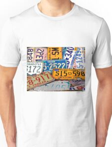 License Plate Poster Unisex T-Shirt