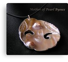 Genuine pearls and leather Canvas Print