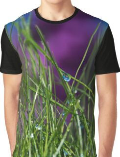 Wet Grass Graphic T-Shirt
