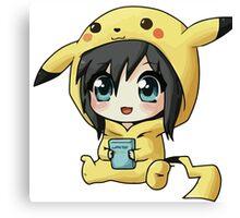 Cute Pikachu Pajama Canvas Print