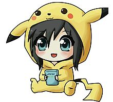 Cute Pikachu Pajama Photographic Print