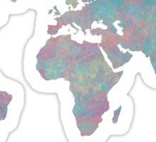 Multicolored Distressed World map Sticker