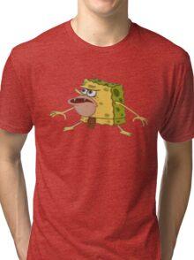 Caveman Spongebob Meme Tri-blend T-Shirt