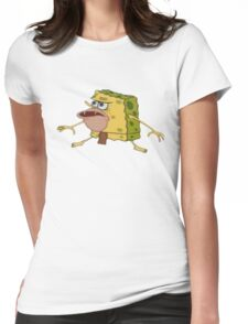 Caveman Spongebob Meme Womens Fitted T-Shirt