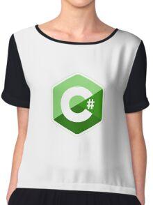 c sharp green lenguage programming c# Chiffon Top
