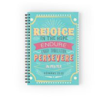 Romans 12:12 Spiral Notebook