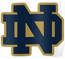 Notre Dame Blue Gold Logo Poster