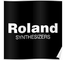 Roland Synthesizer (White) Poster