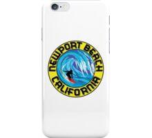Surfer NEWPORT BEACH California Surfing Surfboard Waves Ocean Beach Vacation iPhone Case/Skin