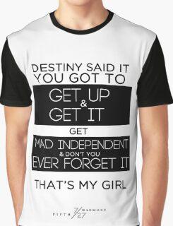 FIFTH HARMONY LYRICS #3 - That's My Girl Graphic T-Shirt