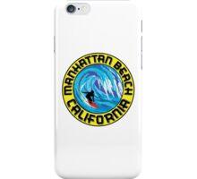 Surfer MANHATTAN BEACH California Surfing Surfboard Waves Ocean Beach Vacation iPhone Case/Skin