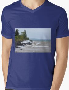 Waves of Gitchigumi Mens V-Neck T-Shirt