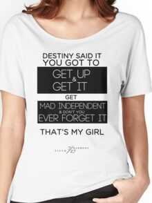 FIFTH HARMONY LYRICS #3 - That's My Girl Women's Relaxed Fit T-Shirt