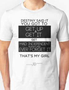 FIFTH HARMONY LYRICS #3 - That's My Girl Unisex T-Shirt