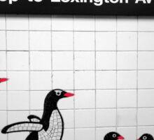 NYC Subway Penguins Sticker