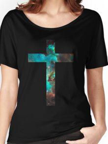 Green Galaxy Cross Women's Relaxed Fit T-Shirt