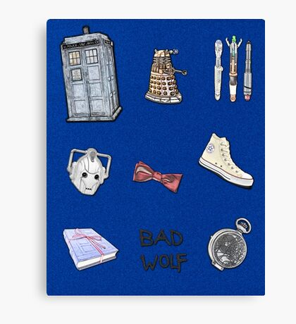 Doctor Who sketch poster Canvas Print