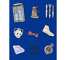 Doctor Who sketch poster Photographic Print