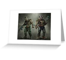 Rocksteady And Bebop Greeting Card