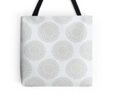 boho white flower seamless pattern Tote Bag