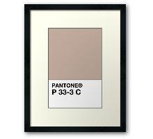 PANTONE P 33-3 C Framed Print