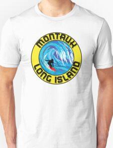 Surfing MONTAUK LONG ISLAND NEW YORK Surf Surfboard Waves Unisex T-Shirt