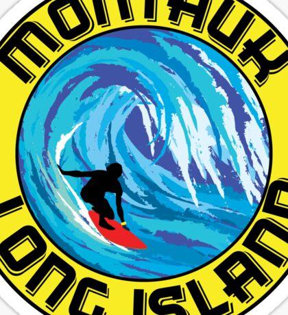 Surfing MONTAUK LONG ISLAND NEW YORK Surf Surfboard Waves Sticker