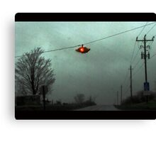 Rain thru the car window Canvas Print
