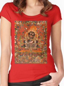 Mahakala Protector of the tent Women's Fitted Scoop T-Shirt