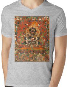 Mahakala Protector of the tent Mens V-Neck T-Shirt