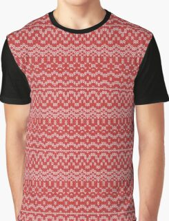 christmas seamless knitting pattern Graphic T-Shirt