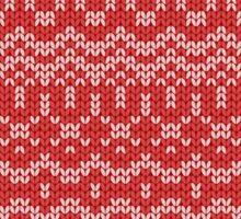 christmas seamless knitting pattern Sticker