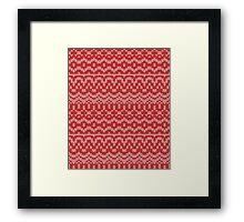 christmas seamless knitting pattern Framed Print