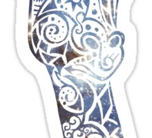 Blue Space Giraffe Sticker