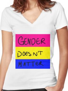 Pansexual Pride Women's Fitted V-Neck T-Shirt