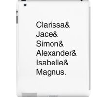 Shadowhunters Helvetica list iPad Case/Skin