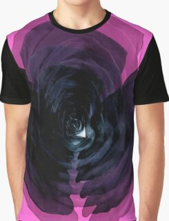 Black rose on a pink Graphic T-Shirt