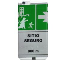 Disaster Evacuation Safe Zone Sign iPhone Case/Skin