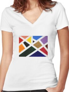 Anne's Abstract  Women's Fitted V-Neck T-Shirt